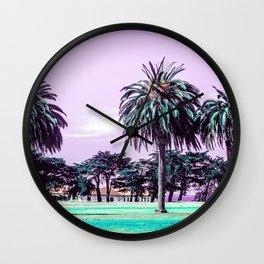Three palm trees. Wall Clock