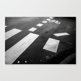 Black and white - Pedestrian crossing Leinwanddruck