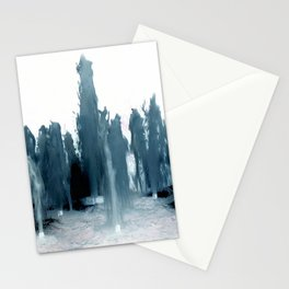 Negative Water Fountain Stationery Cards