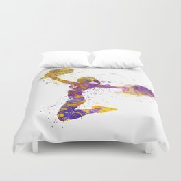 young woman cheerleader 03 Duvet Cover
