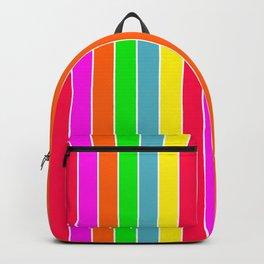Neon Hawaiian Rainbow Deck Chair Stripes Backpack