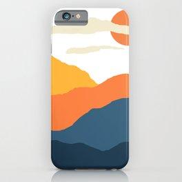 Mountains Landscape Mid Century N21001 iPhone Case