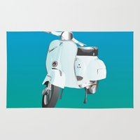 vespa Area & Throw Rugs featuring Vespa by Frivolous Designs