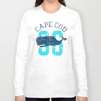cape cod Long Sleeve T-shirts featuring Cape Cod Whale by Rob Howell