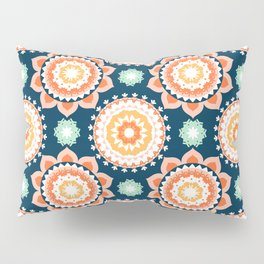 Indigo & Papaya Pattern 12 Pillow Sham