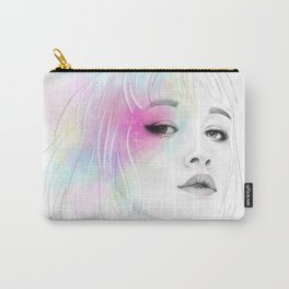 Pastel glowing Girl digital portrait Carry-All Pouch