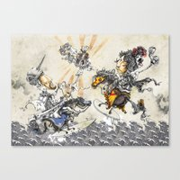 knight Canvas Prints featuring Knight by JoeyDrawing