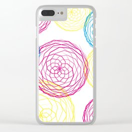 Spiro Blooms Clear iPhone Case