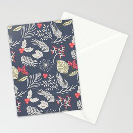 Winter berry pattern Stationery Cards