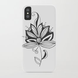 Solitary Flower iPhone Case