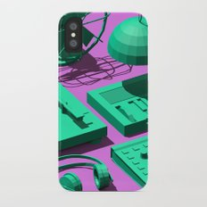 Low Poly Studio Objects 3D Illustration iPhone X Slim Case