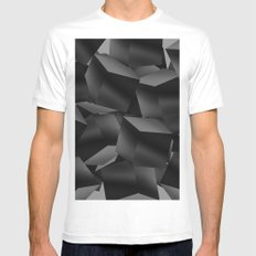 Black Fade Cubes White MEDIUM Mens Fitted Tee