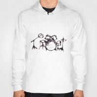 drums Hoodies featuring Drums by Jake Stanton
