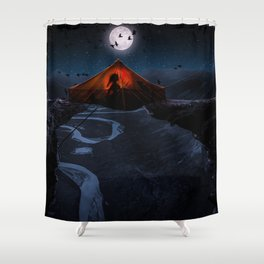 caution to the wind Shower Curtain