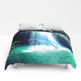 The Secret Under the Waterfall Comforters