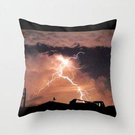 Mister Lightning Throw Pillow