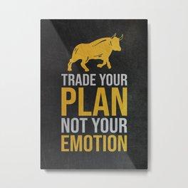 Trader Trading Gift Idea Metal Print