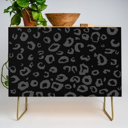 Black and Gray Leopard Credenza