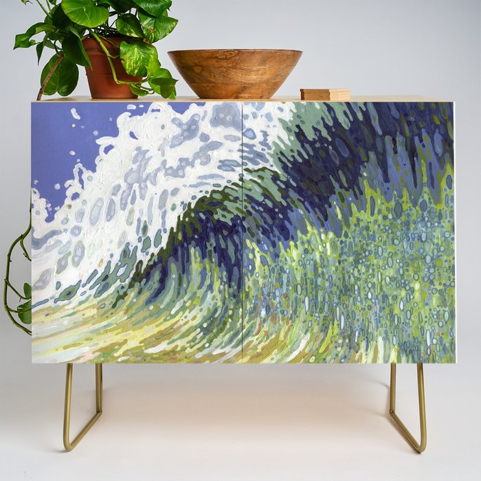 Surf's Up Big Wave Juul Art Credenza