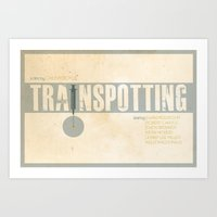 trainspotting Art Prints featuring Trainspotting by Jacob Wise