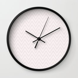 Mauve pink girly elegant geometrical chevron pattern Wall Clock