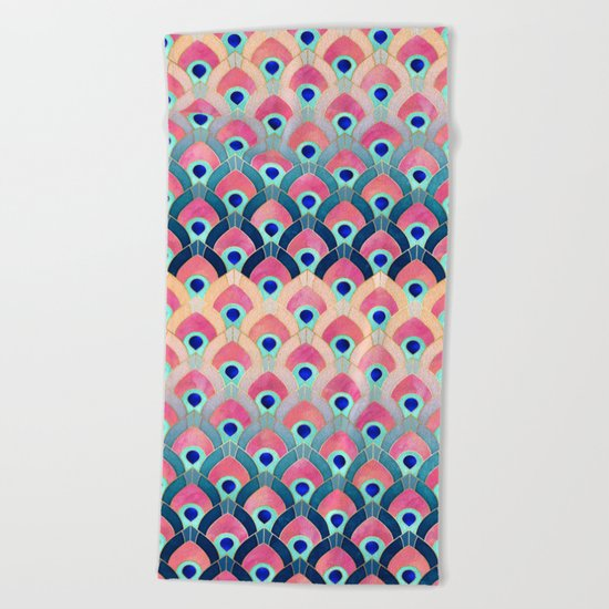 Feathered 1 - Long Beach Towel