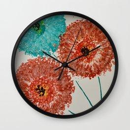 Dandelion Trio Wall Clock