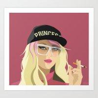 princess peach Art Prints featuring Princess Peach  by DigitalSlave