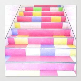 Harajuku Pink Stairs Canvas Print