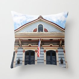 New Orleans American Creole Cottage Throw Pillow