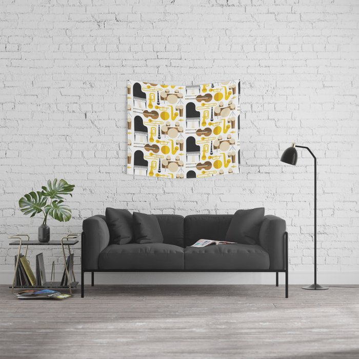 Jazz instruments Wall Tapestry