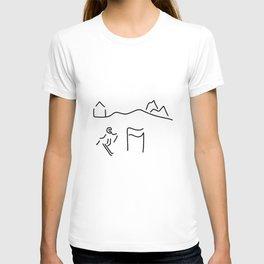 alpine skier T-shirt