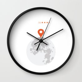 Moon Location with Reviews Wall Clock