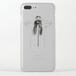 Woman Color 2 Clear iPhone Case