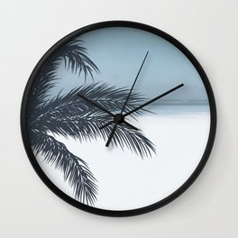 Palm and Ocean Wall Clock