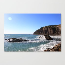 rocks and cliff  Canvas Print