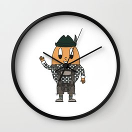 Leather-Pants-Carrier Egg Wall Clock
