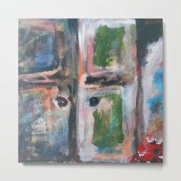 Door to heaven - colorful, gentle, rustic, acrylic, abstract art piece Metal Print
