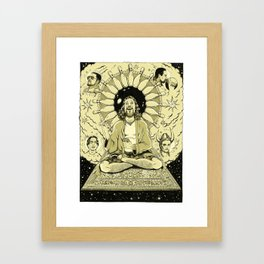 The Tao of Dude (The Big Lebowski) Framed Art Print