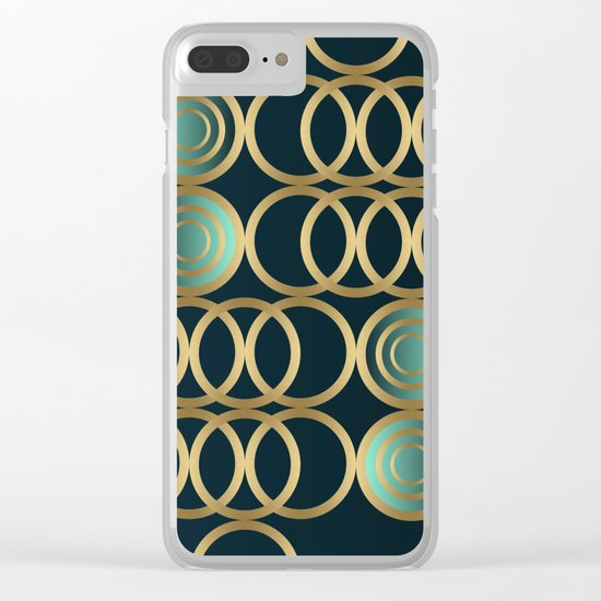 Gold Circles Game Clear iPhone Case