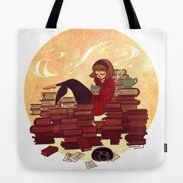 Book Lover Girl Tote Bag