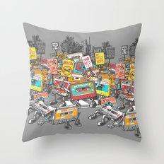 Digital Ruins Our Life Throw Pillow