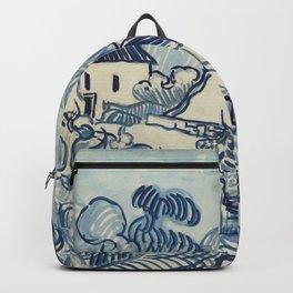 """Vincent van Gogh """"Landscape with Houses"""" Backpack"""