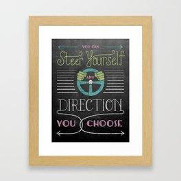 Steer Yourself Framed Art Print