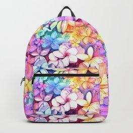 Plumeria Fun Pattern Backpack