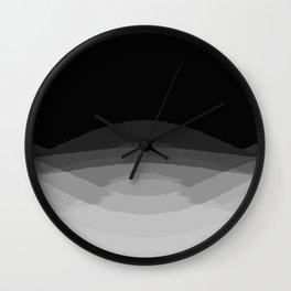 Gray Black Ombre Pattern Wall Clock