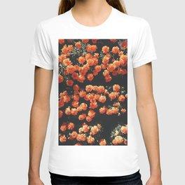Orange flower fleurs T-shirt