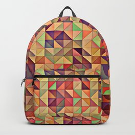 Triangular Patchwork Backpack