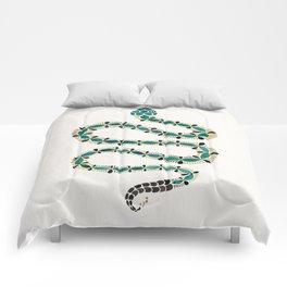 Emerald & Gold Serpent Comforters