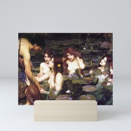 HYLAS AND THE NYMPHS - WATERHOUSE Mini Art Print